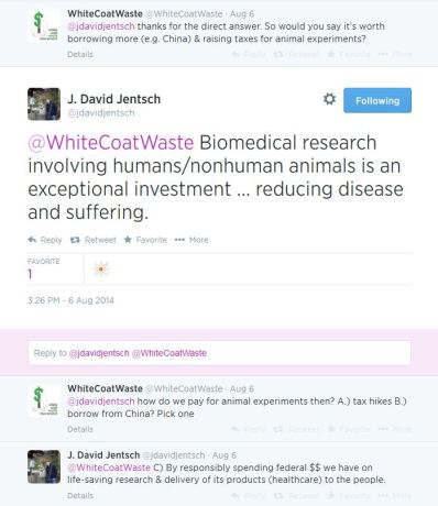 An animal rights extremist group, White Coat Waste, uses Tea Party rhetoric in an attempt to undermine support for research investment